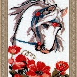 """Вышивка """"Лошадь с маками"""" (Риолис)"""