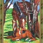 """Вышивка """"Лошади"""" (РС-студия)"""