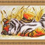 "Вышивка ""Тигр на отдыхе"" (Искусница)"