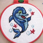 """Вышивка """"Дельфинчик"""" (Искусница)"""