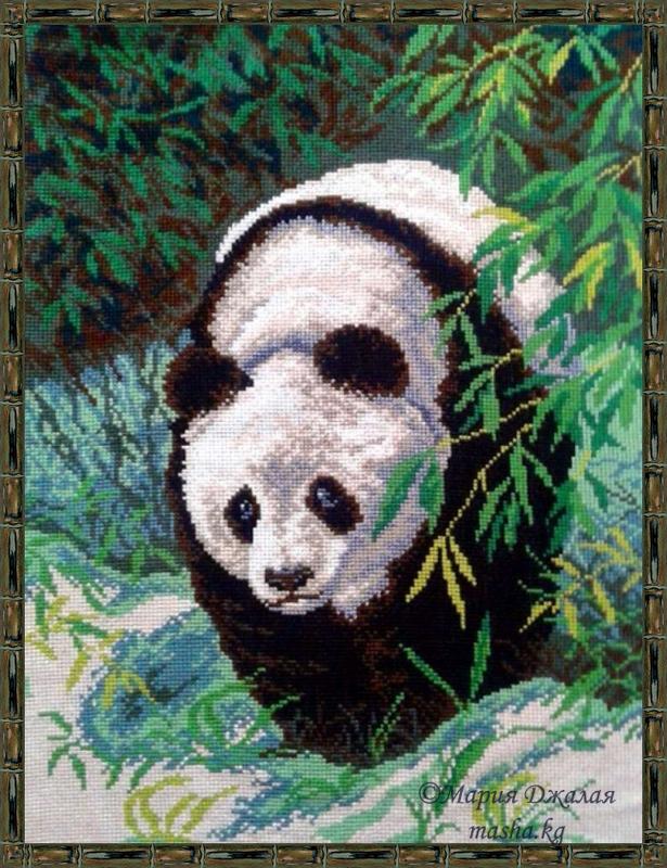 """Процесс вышивки """"Панда"""""""