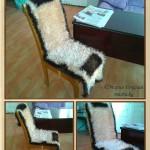 Накидка для стула. Вязание крючком. Пряжа-травка