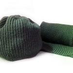 Шарфик и шапочка. Вязание двойной резинкой