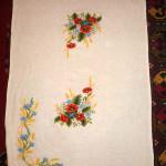 Вышивка скатерти на заказ