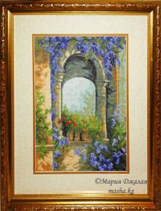 Цветочная арка (Чарівна мить, вышивка на заказ)