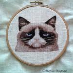 Grumpy Cat (в кармашке на рубашке, вышивка)
