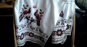 Свадебный рушник, вышивка