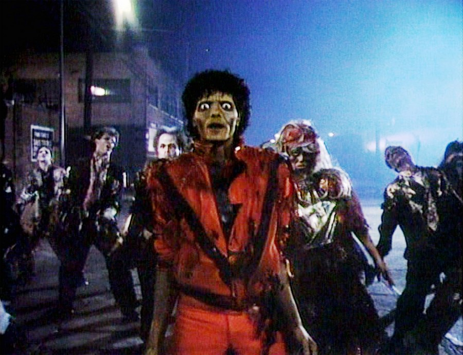 "Майкл Джексон, кадр из клипа ""Триллер"""